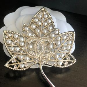 Authentic Chanel Leaf Brooch for sale